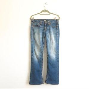 True Religion Low Rise Bootcut Jeans Sz 27